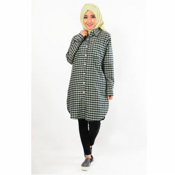 Jfashion Plaid Tunik Long Sleeve - Hilda