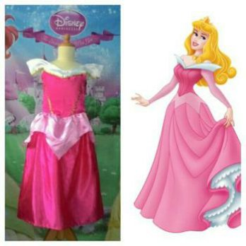 Baju Dress,Gaun Anak/Kostum Sleeping Beauty Standar