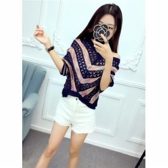 Knitted Blouse ( Pink, Blue ) - 786805