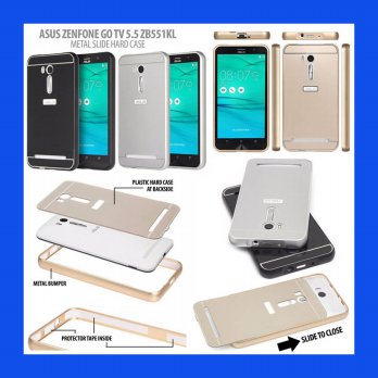 Asus Zenfone Go 5.5 Inch ZB551KL Metal Slide Hard Case Casing Cover