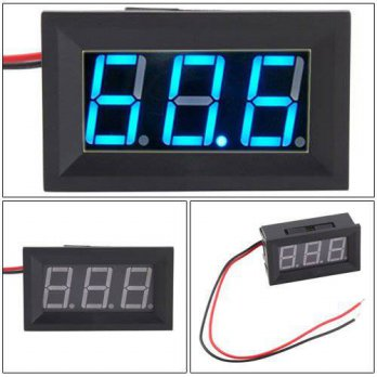 [macyskorea] Hittime 2 Wire Blue LED Panel LED Display Voltage Meter Voltmeter/12377296