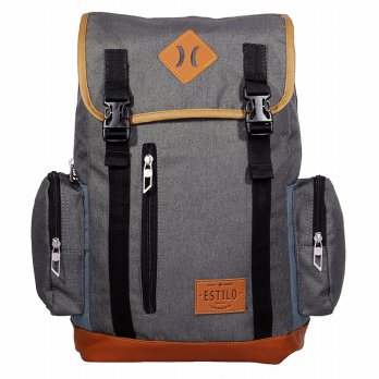 Tas Ransel Laptop Retro Vintage Series Estilo 740001 Abu + Raincover