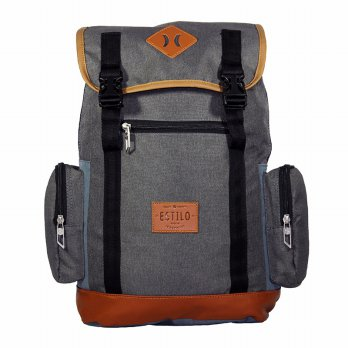 Tas Ransel Laptop Retro Vintage Series Estilo 740004 Abu + Raincover
