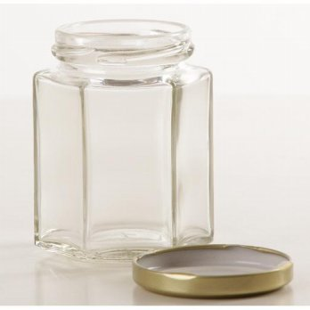 1pc - 100ml Botol Toples Beling Jar (kaca) : Hexagon & Silinder, TANPA penutup
