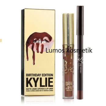 Kylie Lip kit Birthday Edition Matte True brown + Lip Liner