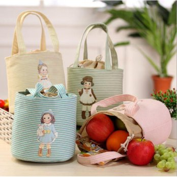 Cooler Bag DOLL Bonus 2 pcs jelly ice cooler lunch bag