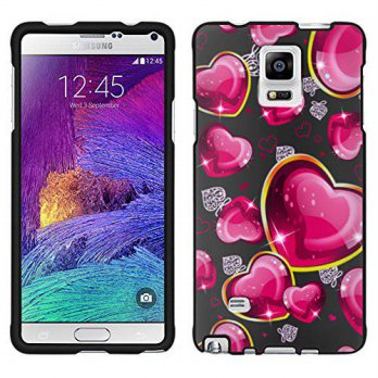 [holiczone] TrekCases Samsung Galaxy Note 4 Dream Hearts On Black Case/251916