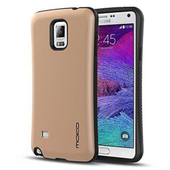 [holiczone] Galaxy Note 4 Case - MoKo S-Line Shock absorbing Protective Cover with Hard pl/252329
