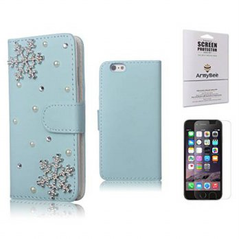 [holiczone] Mini-Factory iPhone 6 / 6s [4.7] Snowflake Christmas Case, Bling Leather Rhine/254933