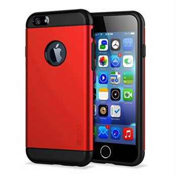 [holiczone] iPhone 6 Case, Slicoo Cover Carrying Case for New iPhone 6 4.7 inch (Red)/256264