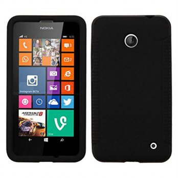 [holiczone] MyBat Solid Skin Cover for Nokia Lumia 635 - Retail Packaging - Black/257291
