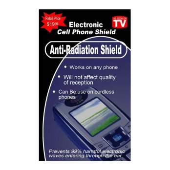 Stiker Anti Radiasi. Anti Radiation Shield Safe Guard E.M.W. Made In China.