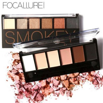 FOCALLURE Six Color Eye Shadow with Brush