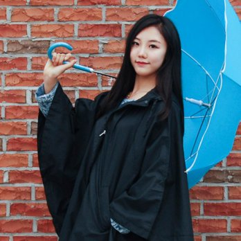 Women Rain Coat Trench Coat Wind Breaker / _ black cloak Raincoat (with pouch) 1607705