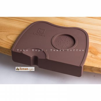 Latina Barista Tamping Mat Edge Brown