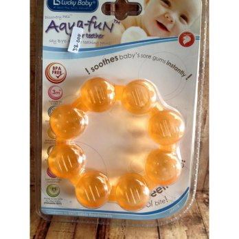 Mainan Bayi Water Teether Lucky Baby Aqua Fun Beads Ring