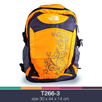 Tas backpack northface 0832 corak Orange T266-3
