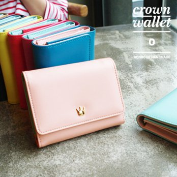 Korean Trendy Style Women Casual Pouch Bag Purse Wallet / Crown Wallet .O 1049289