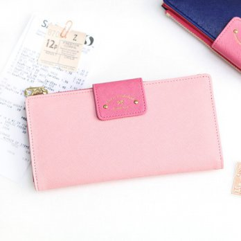 Korean Trendy Style Women Casual Pouch Bag Purse Wallet / Alice Weed-to-Slim Wallet - 5COLOR 1337631