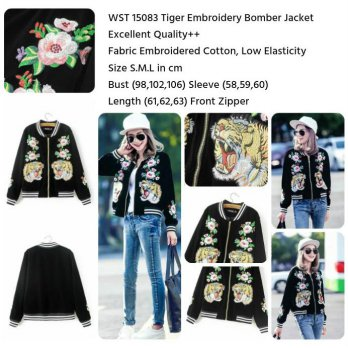 Tiger Embroidery Bomber Jacket (size S,M,L) -15083
