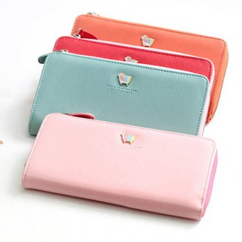 Korean Trendy Style Women Casual Pouch Bag Purse Wallet / afternoon Zipper Wallet Clutch Hand 13673
