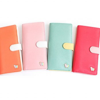 Korean Trendy Style Women Casual Pouch Bag Purse Wallet / afternoon Coco two-step Wallet 1367379