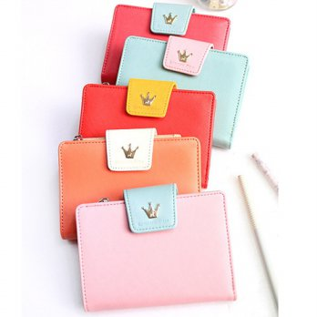 Korean Trendy Style Women Casual Pouch Bag Purse Wallet / afternoon mid-zipper Wallet 1524468