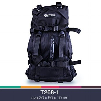 Tas backpack columbia sport wear company Hitam T268-1