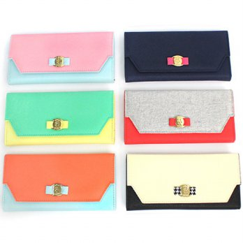 Korean Trendy Style Women Casual Pouch Bag Purse Wallet / Mary Alice Weed, Berry Wallet 1768695