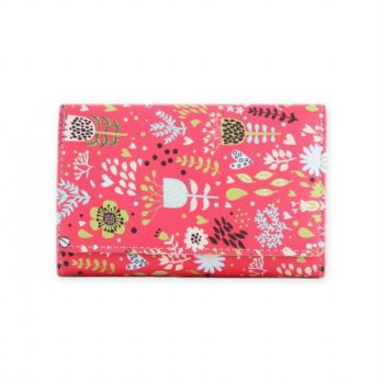 Korean Trendy Style Women Casual Pouch Bag Purse Wallet / TRIFOLD FRAME WALLET_Flower Bed 1847560