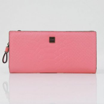 Korean Trendy Style Women Casual Pouch Bag Purse Wallet / Reina Omnia Leather Slim Long 2008286