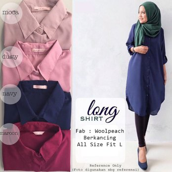 Atasan hijab - long top- tunik - coat model oke harga terjangkau part 2