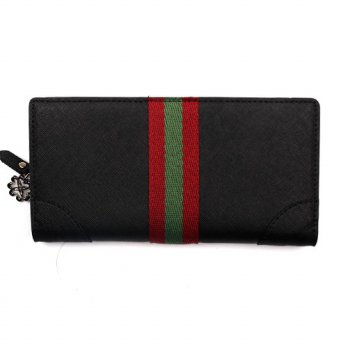 Korean Trendy Style Women Casual Pouch Bag Purse Wallet / Long _ black blood ROCHELLE 2137273