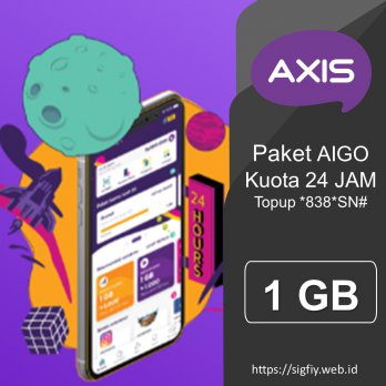 Voucher Axis Data AIGO 1GB 24Jam 30Hari