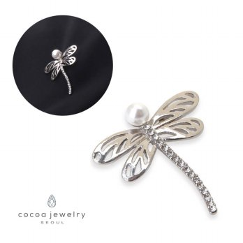 cocoa jewelry PIN Wanita Korea - un Papillon Silver Color NO BOX