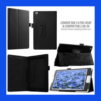 Lenovo Tab 3 8 TB3-850F Lychee Standing Leather Case Casing Cover