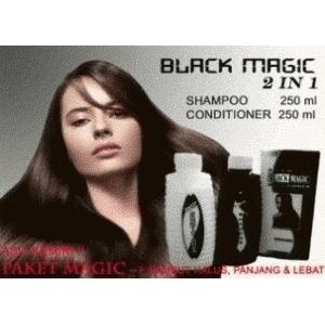 Shampo penghitam Rambut - Black Magic Kemiri Shampoo
