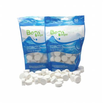 Coin Tissue Compressed Tissue BETA Wipe Bare Package 50 Pcs