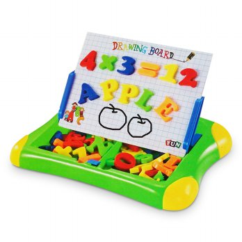 Toylogy Papan Tulis Magnet Huruf Angka - Second Classroom - Magnetic Learning Case