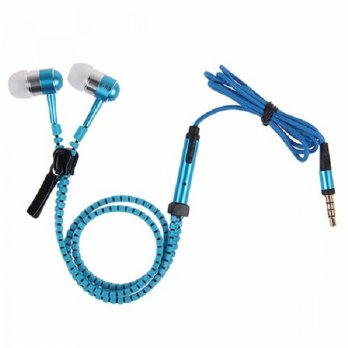 Zipper Earphone Zipper Headphone Zipper Handsfree Zipper Headset Phone