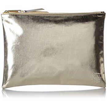 [Macyskorea] Herschel Supply Co. Mens Network Large Gold Silver Pouch, Gold / Silver, One Si / 11481289