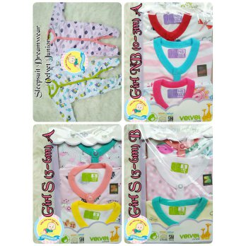 Sleepsuit Dreamwear Velvet Junior Tutup Kaki Sleepwear