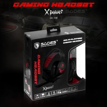 (Termurah) Headset Gaming Sades X-Power SA-706