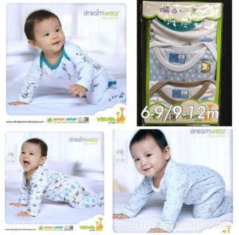 VELVET DREAM WEAR 3pcs Sleepsuit (BOY) 9-12m PREMIUM Qu