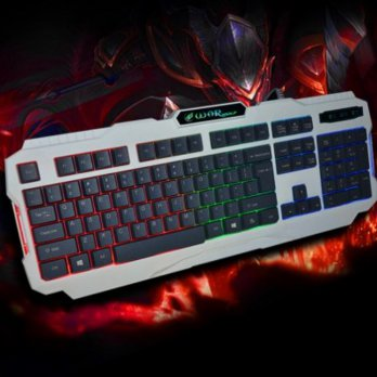 (Termurah) Keyboard Gaming Warwolf K2 - Backlight, Water Resistant