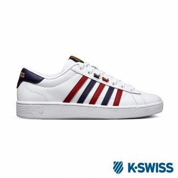 K-Swiss Hoke CMF American casual shoes - Men - White / Blue / Red