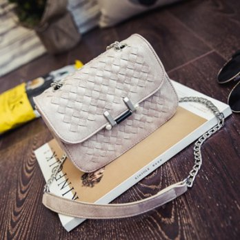 Shoulder bags woven shoulder bag lock female bag small square package color 73fc33 [4] Milan boutiqu