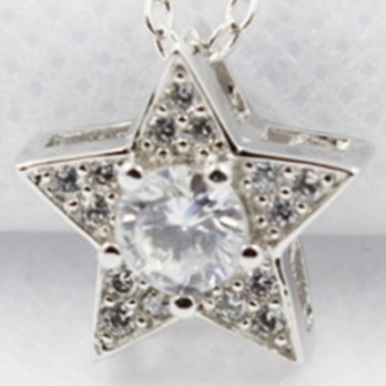 + Diamond pendant necklace 925 sterling silver necklace female stars Milan boutique 73y101 []
