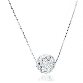 + Diamond pendant necklace 925 sterling silver ball necklace female minimalist boutique 73y106 [Mila