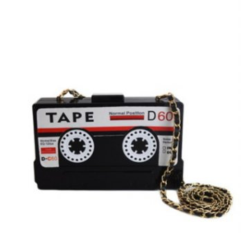 Evening bag retro chain bag woman bag hand modeling personality tape color 73ft37 [3] Milan boutique